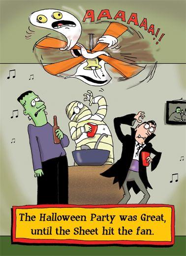 Sheet Fan Halloween Card Cover