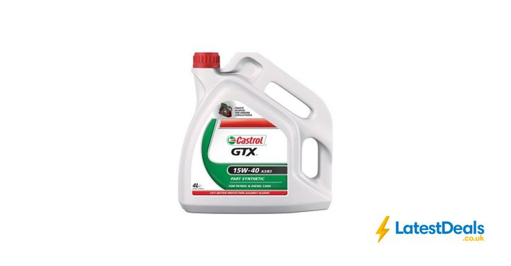 Castrol GTX 15W-40 4ltr, £15.99 at ASDA