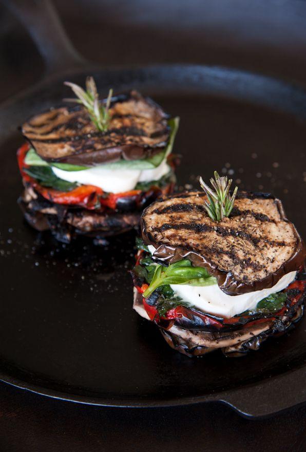 Eggplant Mozzarella Stacks.
