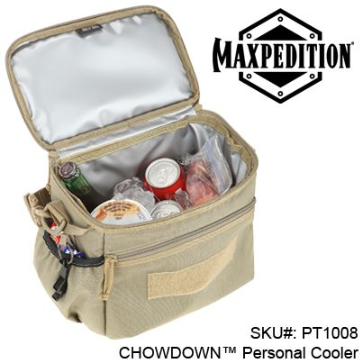 ** NEW MAXPEDITION® PRODUCT ** CHOWDOWN™ Personal Cooler (PT1008) ETA early October; sign up for in stock notification.   Pin It! :)