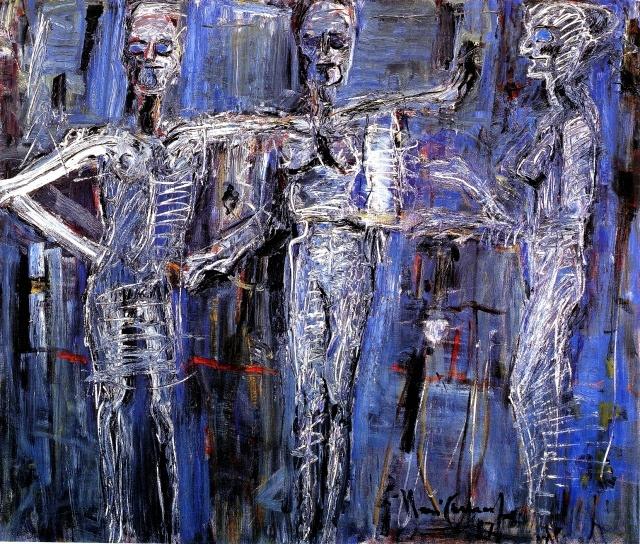 Iberê Camargo - Fantasmagoría IV, 1987.