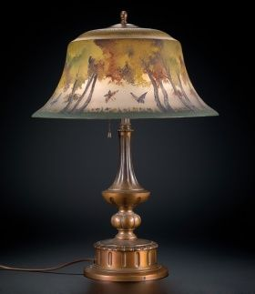 Mt. Washington And Pairpoint: Butterfly Table Lamp | Corning Museum Of Glass