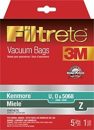 3M - Filtrete HEPA Vacuum Bag for Select Kenmore and Miele Upright Vacuums