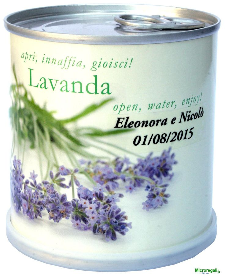 Bomboniere Personalizzabili LAVANDA Fiori in Lattina MACFLOWERS made in Germany cm 7,5x8 h. STAPPA, ANNAFFIA E DIVERTITI .....  E' bello poter utilizzare un oggetto