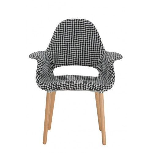 Replica Organic Chair in new hounds tooth pattern