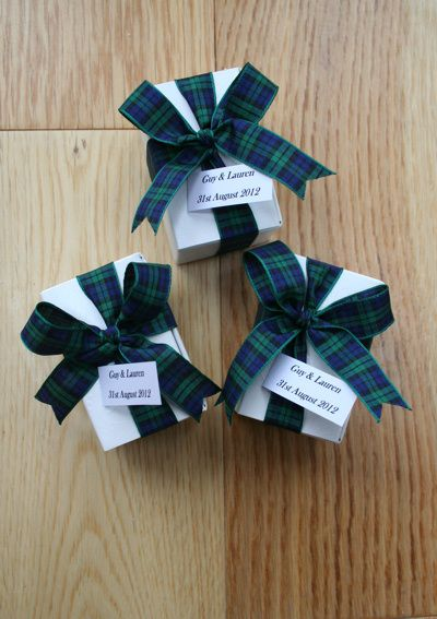 Scottish gift Tag Wedding Favours