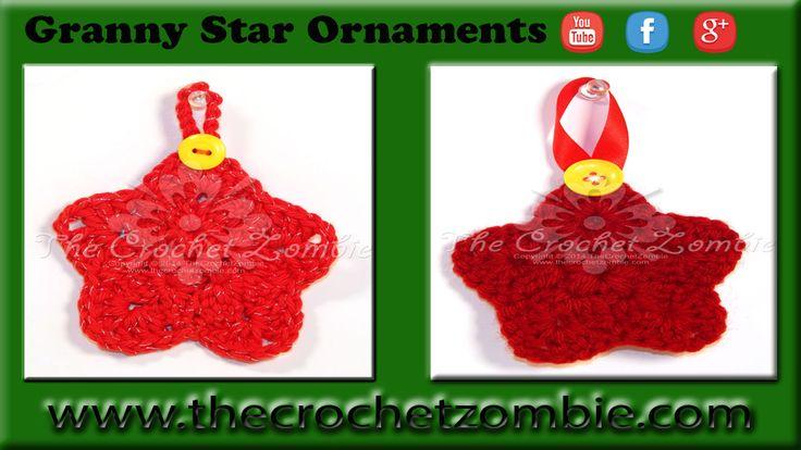 Granny Star Ornaments