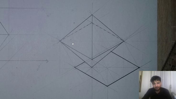 📐The Logic Behind Drawing A Octahedron In Four Different Positions (Axonometric And Projection)