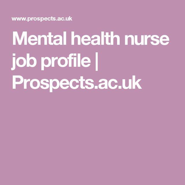 Mental health nurse job profile | Prospects.ac.uk