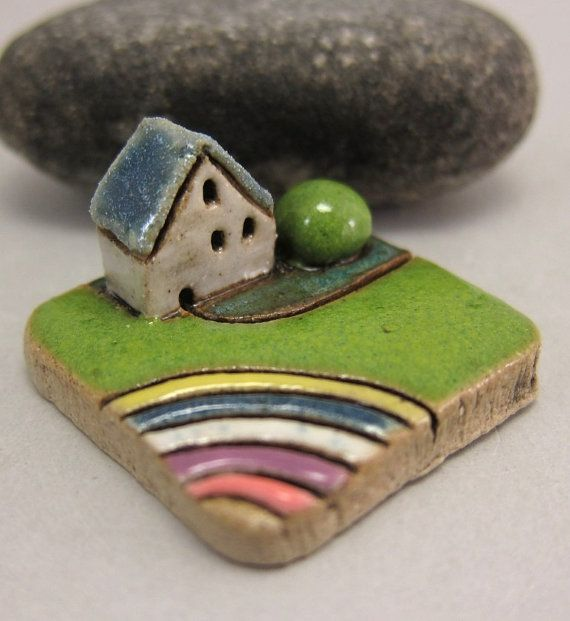 S So cute - I want them all MyLand - Flower Rainbow - Collectible 3x3 cm or 1.2x1.2 in. puzzle in stoneware