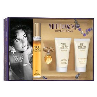 White Diamonds by Elizabeth Taylor 4 Piece Gift Set for Women New In Box