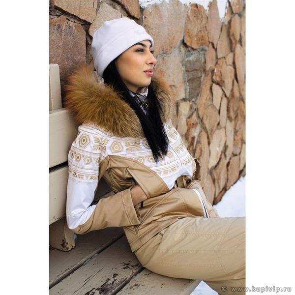 Женские горнолыжные костюмы с мехом