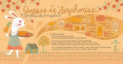 Cositas Ricas Ilustradas por Pati Aguilera: Queque de Zanahorias y semillas de Amapola
