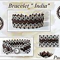 Pour honorer la nouvelle couleur de Amos® par Puca® Dark Bronze Mat hummm on dirait du chocolat :) avec un fermoir de chez Perles & Co...