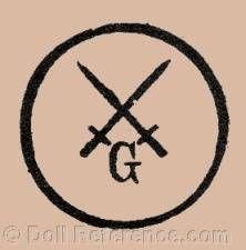 Theodor Degenring doll mark crossed swords G