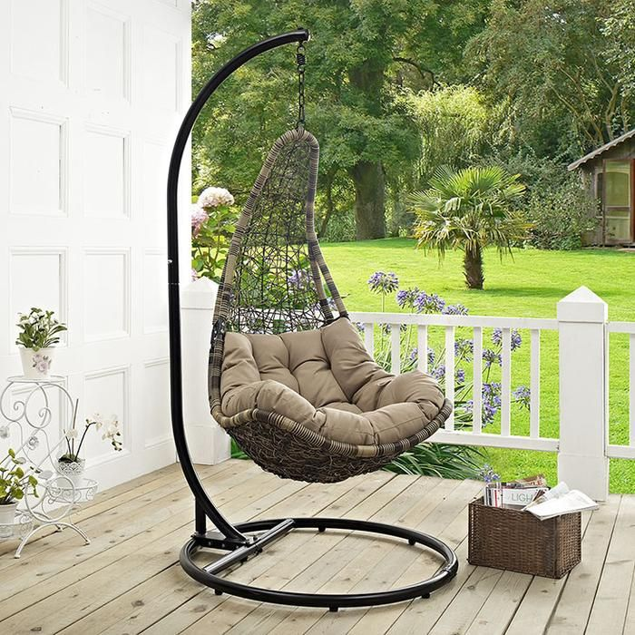 Wayne Outdoor Patio Swing Lounge Chair in 2020 Patio