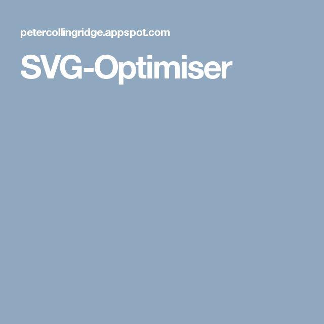 SVG-Optimiser