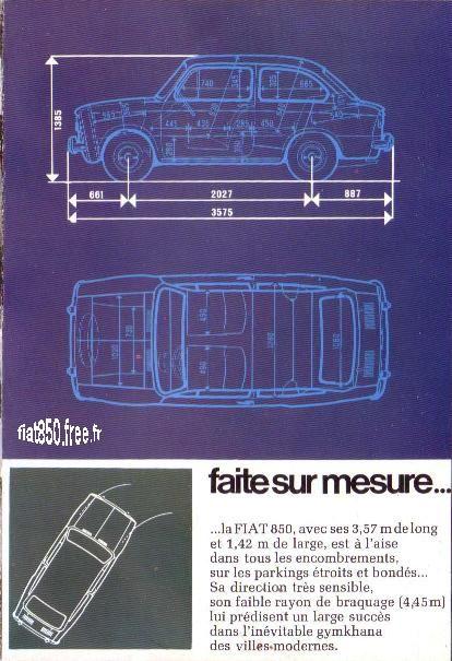 Fiat 850 Berline - Catalogue publicitaire Fiat France