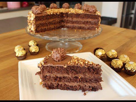 Ferrero ROCHER-Torte / Ferrero Rocher-Cake / leckere Schokoladen-Sahne-T...