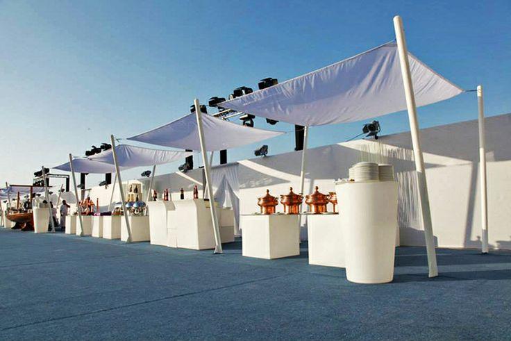 Meydan Beach Club Party in Dubai with SLIDE furniture.