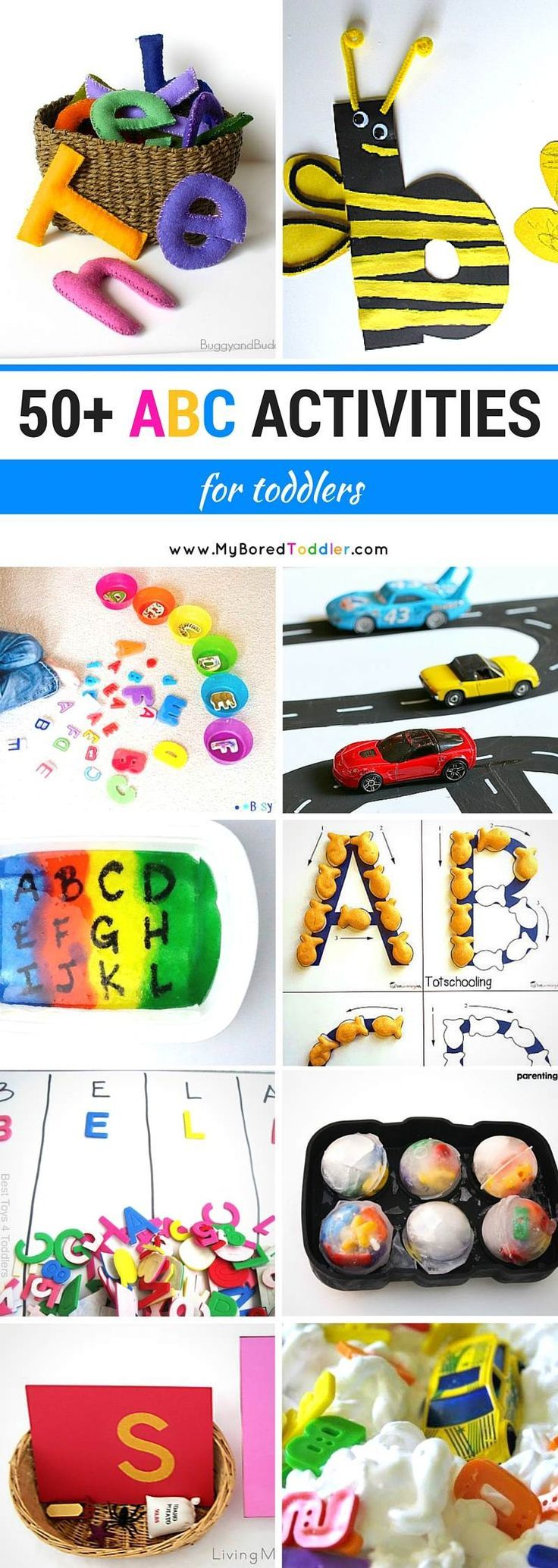 Most Popular Teaching Resources: 50+ ABC Activities for Toddlers - My Bored Toddler...