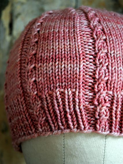 cute. Knit hat with pattern.