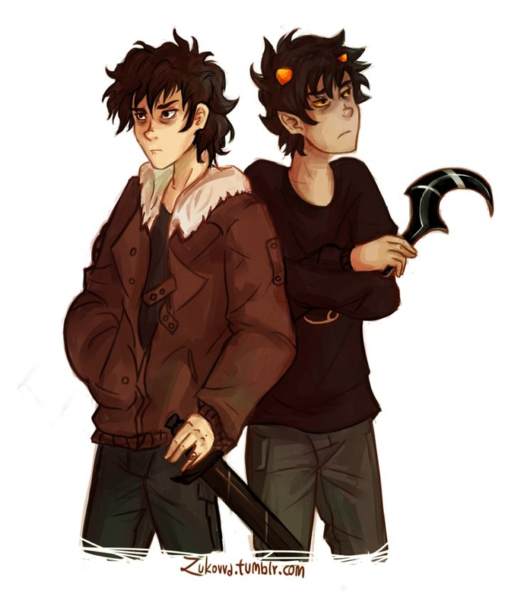 Nico di Angelo (from Percy Jackson and The Olympians) and Karkitty (from Homestruck)>>>OMG!! OMG YES!! BEST MASH UP EVER<<<< AWESOME