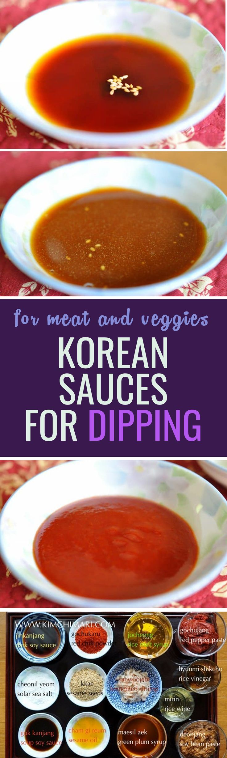 Korean sauce info post part 1, for dipping vegetables, meat, dumplings and much more!