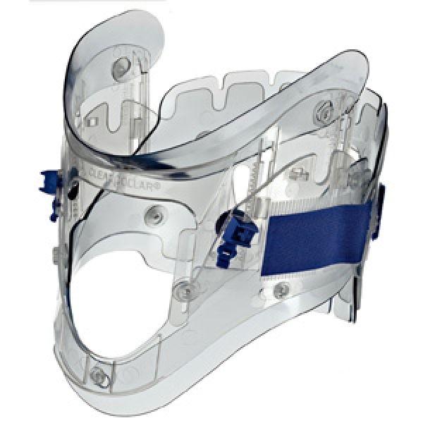 Collier cervical transparent réglable