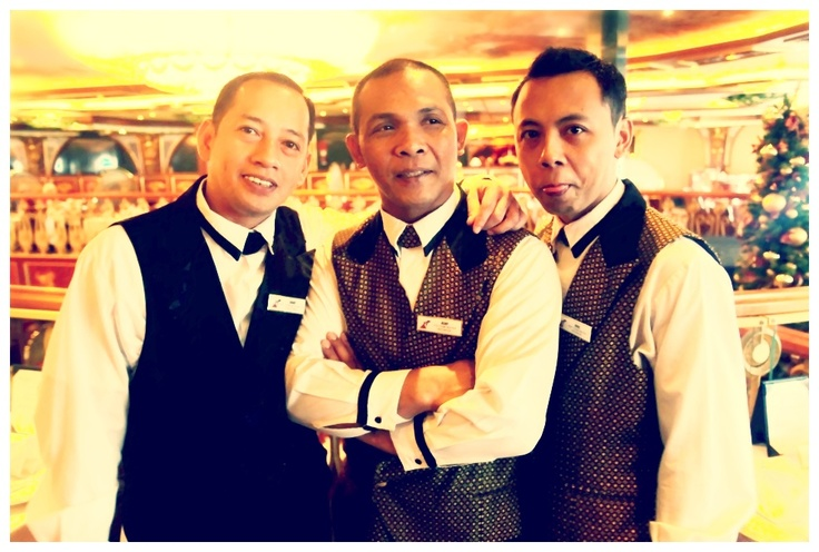 Wait staff on board Carnival Spirit