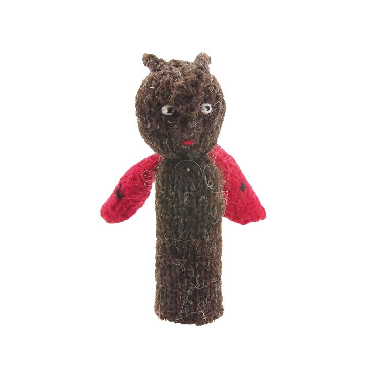 てんとうむしの指人形 | ihanaa−北欧とバルト三国の毛糸と 雑貨のセレクトショップ