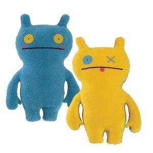 Ugly Dolls: Uglydoll Double Trouble Wage 14.25″ Plush, Blue/Yellow Note: One doll two sides. Two different colors of Ugly! Wage is blue on one side and yellow on the other.  http://awsomegadgetsandtoysforgirlsandboys.com/ugly-dolls/ Ugly Dolls: Uglydoll Double Trouble Wage 14.25″ Plush, Blue/Yellow
