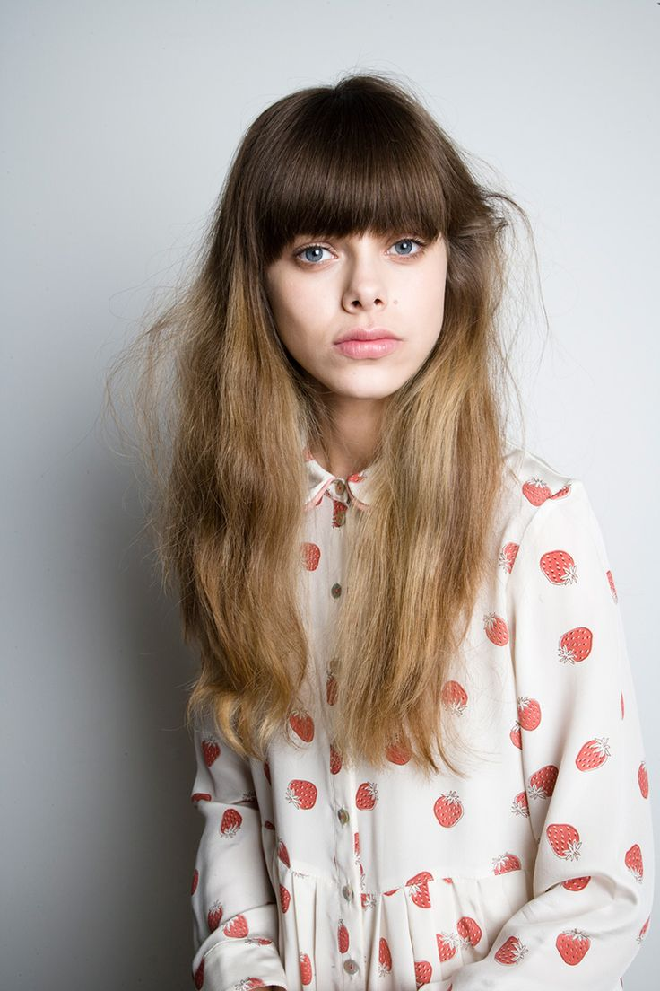 I thought you'd never ask - collection by twenty-seven namesBlouses, Fringes Bangs, Polka Dots, Heavy Bangs, Girls Generation, Ombre Hair, Long Hair, Hair Bangs, Strawberries Shirts