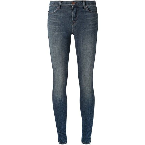 J Brand 'Maria' skinny jeans ($340) ❤ liked on Polyvore featuring jeans, bottoms, pants, blue, denim skinny jeans, j brand, j-brand skinny jeans, blue jeans und j brand jeans