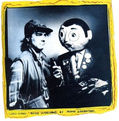 A rare shot of Chris Sievey and Frank Sidebottom together