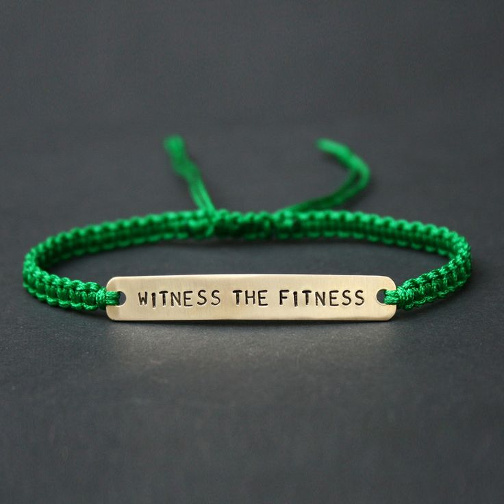 'Witness the Fitness' Lyric Macramé Friendship Bracelet - Stocking Fillers for her - Gifts for Her - Christmas Gift Guide - The Lost Lanes