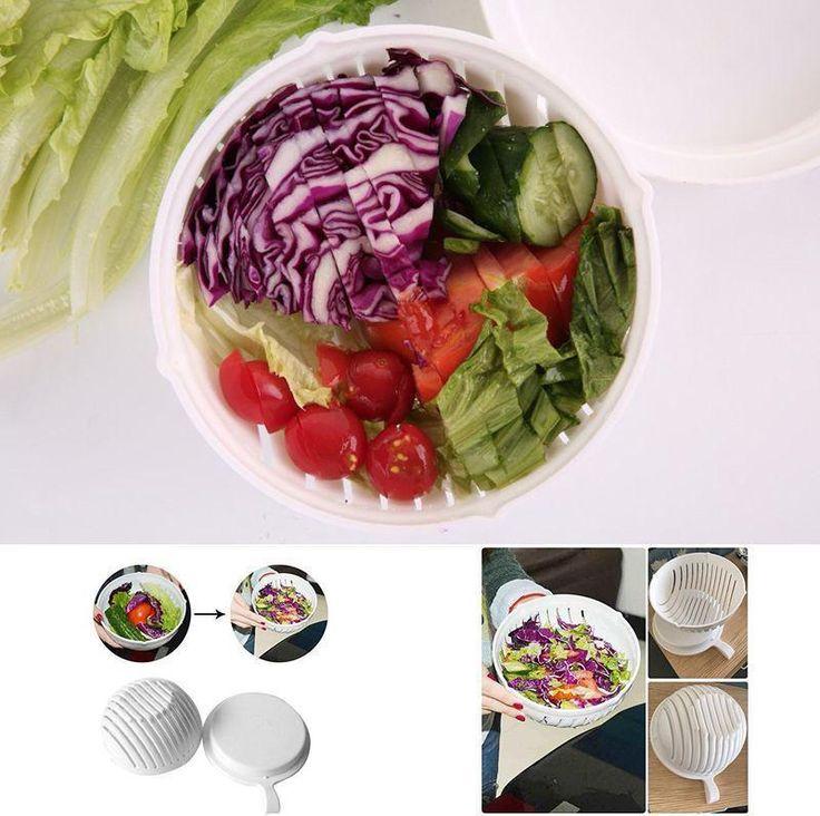 ICYMI: Salad Cutter Chopper Bowl 60 Seconds Salad Maker Vegetable Slicer Fresh Salad