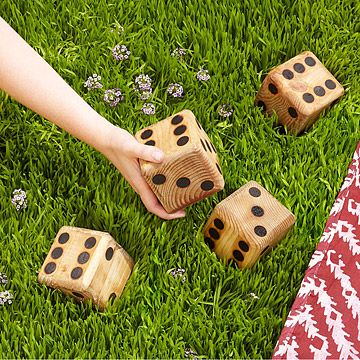 This is actually a MN based company. They do a few different fun yard games. UncommonGoods: Yard Dice for $50 #uncommongoods