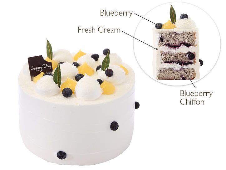 Paris Baguette Bakery Café   Blueberry Chiffon Cake