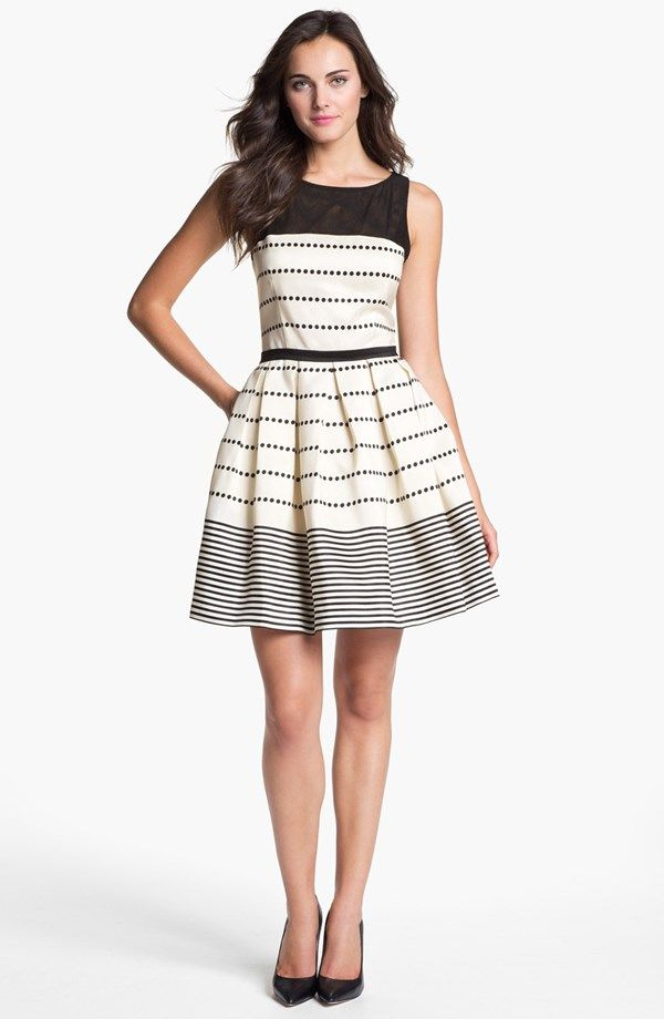My word I love this! Fit & flare dress, b&w, stripes... it's so me!!!