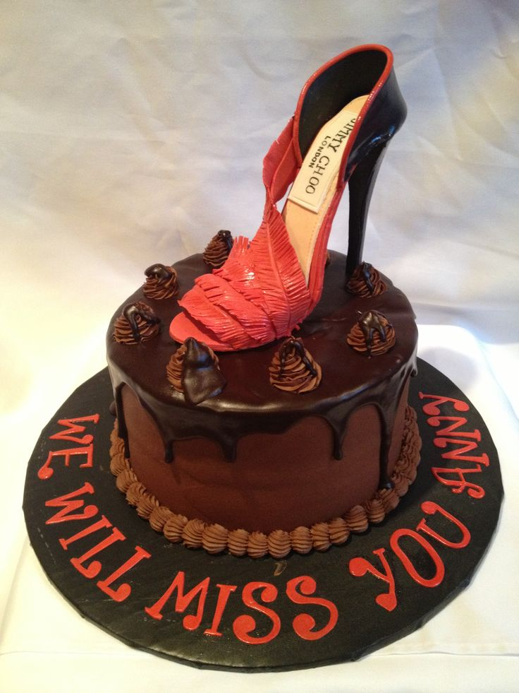 High Fashion Birthday Cake, Jimmy Choo shoes, red carpet ...
