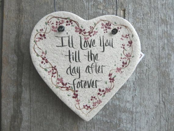 Love Heart Salt Dough Valentine / Birthday Gift Ornament