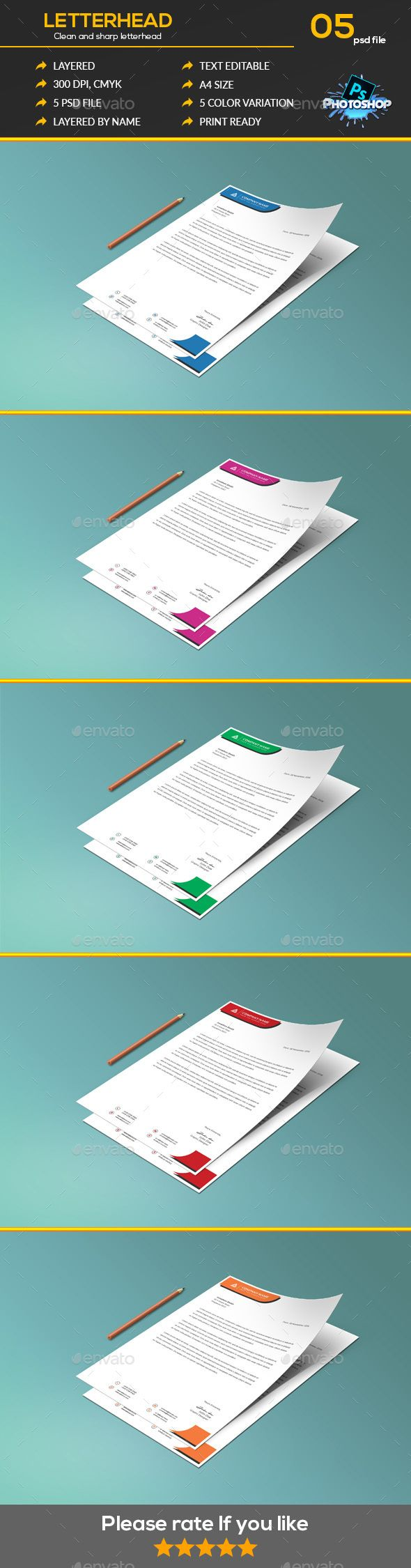 letter format on letterhead%0A Buy Letter Head by DesignHouse on GraphicRiver  LETTERHEAD A simple unique  letterhead for all kind of business and personal purpose usages