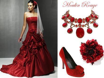 La mode des robes de France: Robe de mariee moulin rouge