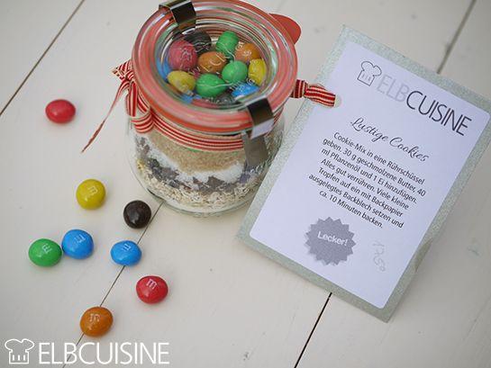 ELBCuisin Minicookies Backmischung im Glas
