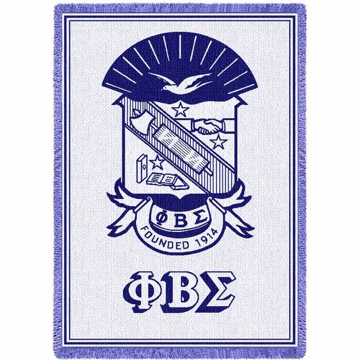 Phi Beta Sigma Afghan Blanket Throw (I suppose he can have his Shrine too...*sigh*)