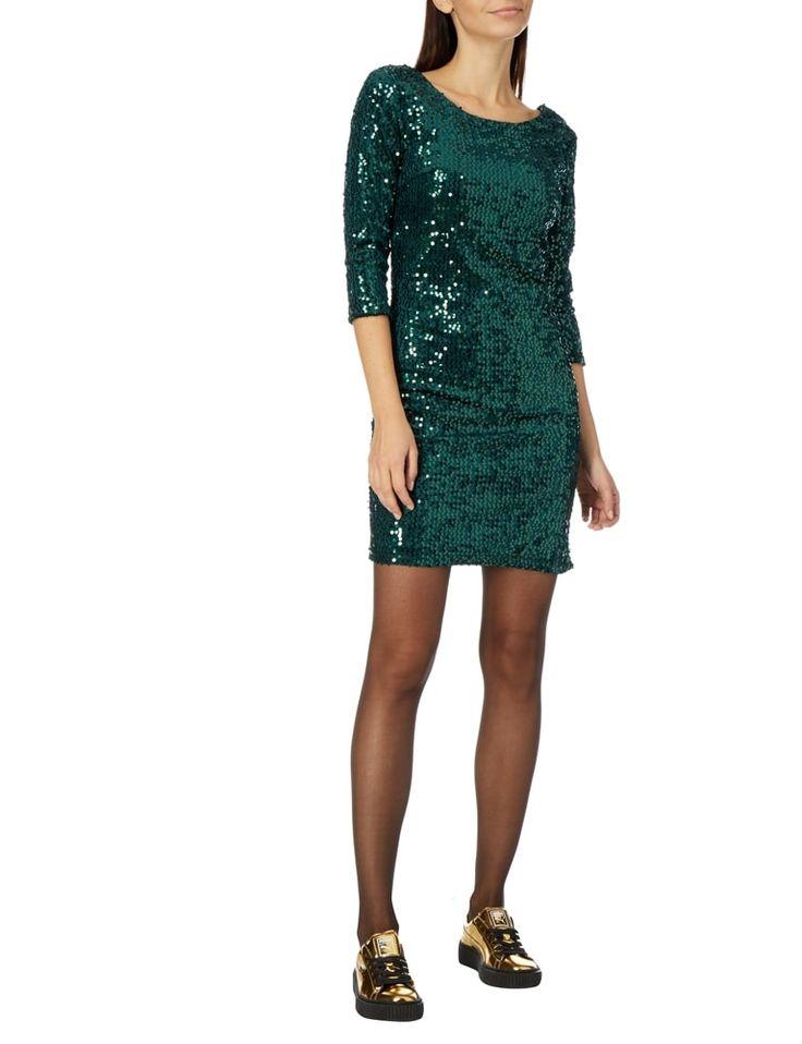 VILA Kleid mit Pailletten-Besatz in Grün online kaufen (9558043)   P&C Online Shop