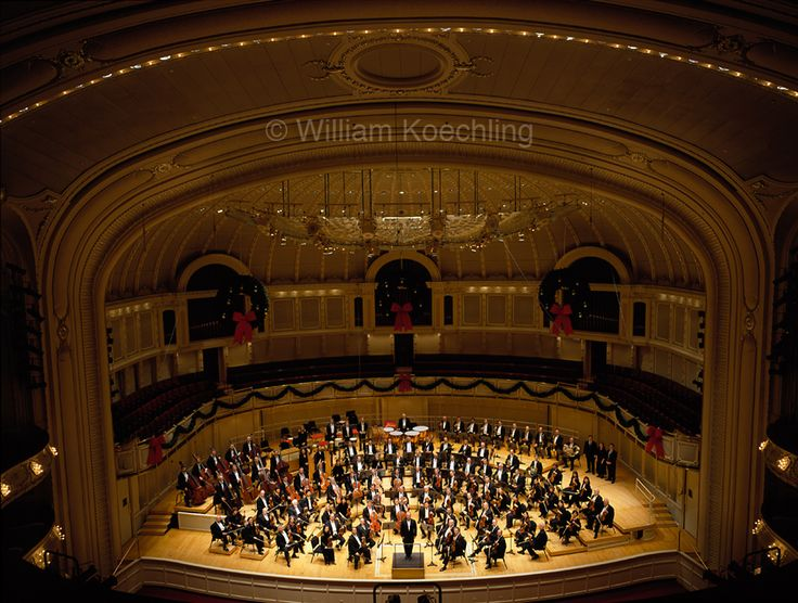 Chicago Symphony Orchestra   I love Orchestra Hall! Like closing my eyes and just listening to the music,