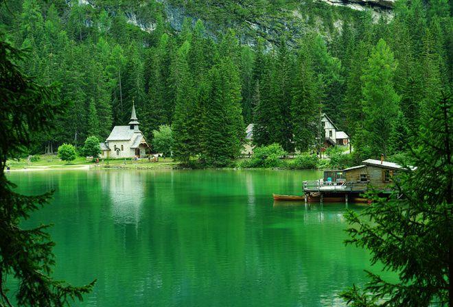 Италия, отдых, Альпы, люди, лес, горы, красиво, природа, храм