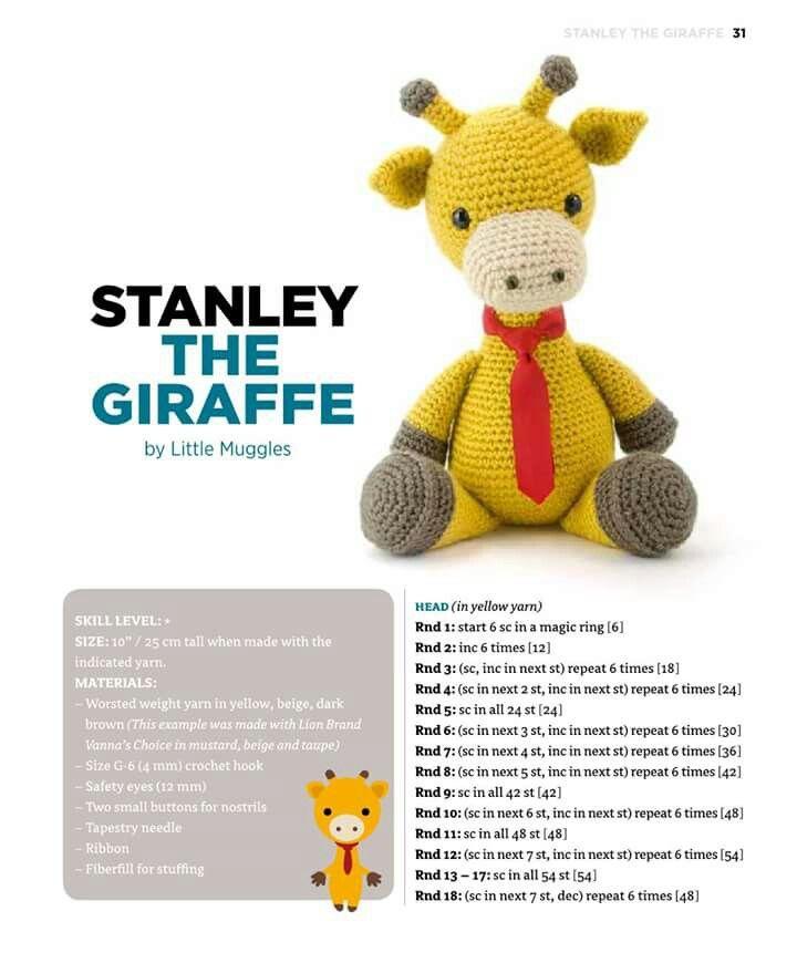 Monty the Giraffe Crochet stuffie CUSTOM COLOR by LoveDincy ...   870x720